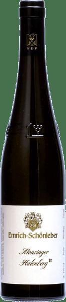 Das Große Riesling Gewächs aus dem Monzinger Halenberg von Emrich-Schönleber glänzt goldgelb im Glas.Vollreife Aromen von saftigen gelben Früchten entwickeln sich im Glas, Grapefruitaromen ergänzen diese. Am Gaumen des Halenberg GGs von Schönleber spürt man die feine, salzige Mineralität und eine klare präzise Säure untermalt den vollen Körper. Ein ausdruckstarker Riesling mit vielschichtigen Aromen und eleganter Finesse, der mit zunehmender Reife immer komplexer wird.