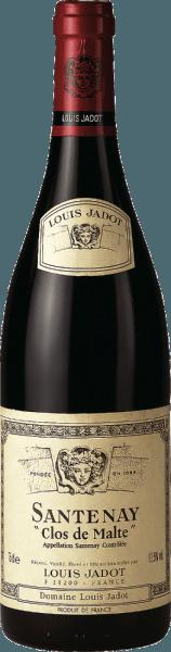 Dieser reinsortige Pinot Noir präsentiert sich in einem dunkel glänzenden Rubinrot im Glas. Der Santenay AOC Clos de Malte von Louis Jadot betört mit einem vielschichtigen und eleganten Bouquet von Mandeln, reifen roten Früchten wie Erdbeeren, aber auch leicht erdigen Noten. Hinzu gesellen sich Tabak, orientalische Gewürze und Holz. Der gut strukturierte, dichte und tiefe Gaumen wird zart von einer fein erdigen Würze und einer herzhaft saftigen Frucht (Kirsche) umhüllt. Er birgt sanft gereiftes und zugleich kraftvolles Tannin in sich. Insgesamt eine sehr eleganter Rotwein mit exzellentem Potenzial, der hervorragend zu kräftigen Fleischgerichten wie z.B. geschmorter Lammschulter mit Kräutern, Rehkeule oder Hasenrücken mit fruchtigem Kirsch- oder Beerenkompott harmoniert.