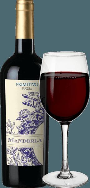 Primitivo Mandorla je jemné kořeněné, ovocné a měkké červené víno z italské vinařské oblasti Puglia. Toto víno je předkládáno v silné, jasně červené barvě. Nos naplňují ovocné vůně červených bobulí (malin), černých třešní doplněné jemným pikantním pepřovým tónem a nuance sušeného ovoce. Na patře je toto italské červené víno nádherně kulaté díky měkkým tříslovinám. Šťavnatá, silná chuť odhaluje tmavé bobule (ostružiny a černý rybíz) a vede k dlouhé, příjemné dochuti. Celkově je primitivo Mandorly harmonický a komplexní pokles. Vinifikace hroznů Mandorla Primitivo Puglia Po pečlivém sklizni hroznů Primitivo z vinařství Mandorla je sklizený materiál nejprve odkvašen, smíchán a výsledná kaše fermentována pod kontrolou teploty v nerezových nádržích. Kaše je nakonec vymačkána a toto víno je částečně skladováno v ocelových nádržích a částečně ve velkých dřevěných sudech, kde je toto červené víno zaokrouhleno a nakonec naplněno do lahví. Mandorla Primitivo k nám pak přijede do Německa. Doporučení k jídlu pro Primitivo Mandorla Doporučujeme toto suché červené víno z Itálie s antipasti, pizzou, těstovinami, silnými (také grilovanými) masnými pokrmy a vyzrálým sýrem.