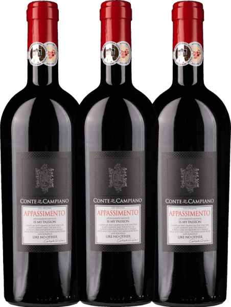 3er Vorteils-Weinpaket - Appassimento 2017 - Conte di Campiano